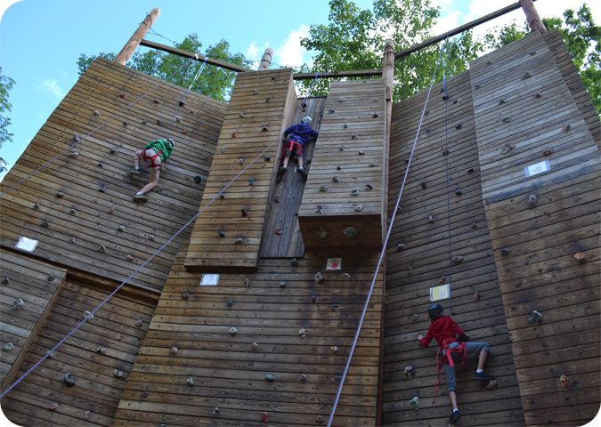 The Climbing Wall at Camp Mason